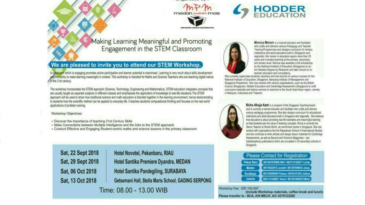 "Hodder Workshop ""Making Learning Meaningful and Promoting Engagement in the STEM Classroom"""